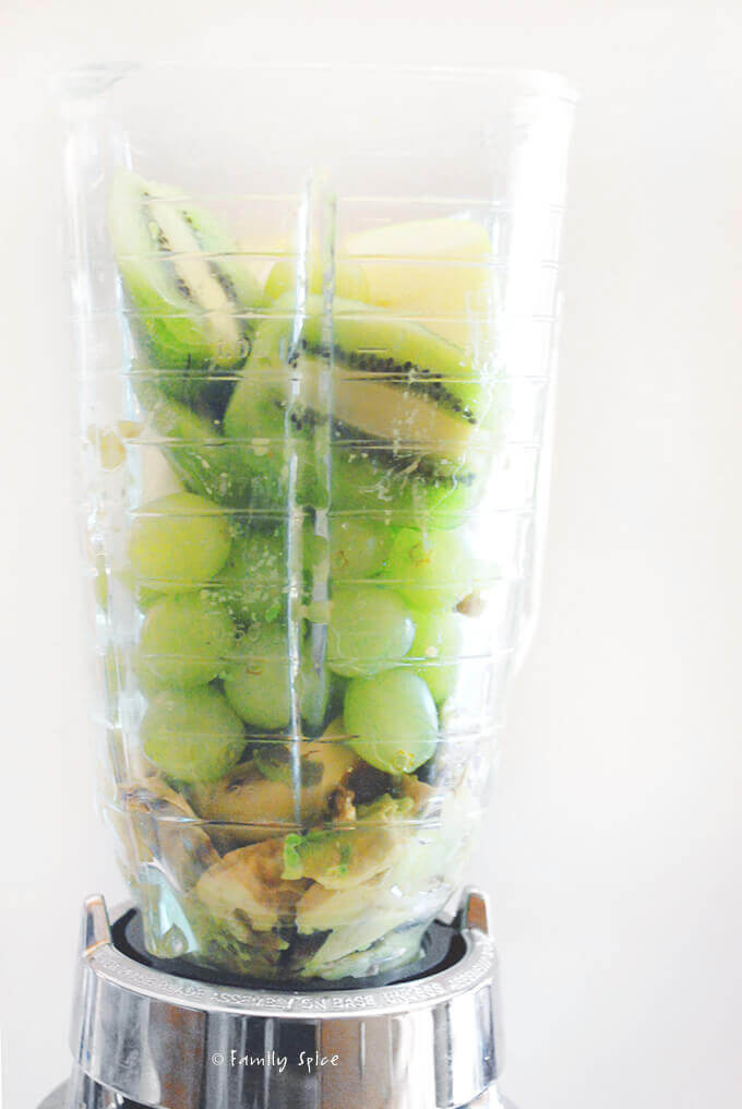 Kiwi Avocado Smoothie in the Blender by FamilySpice.com