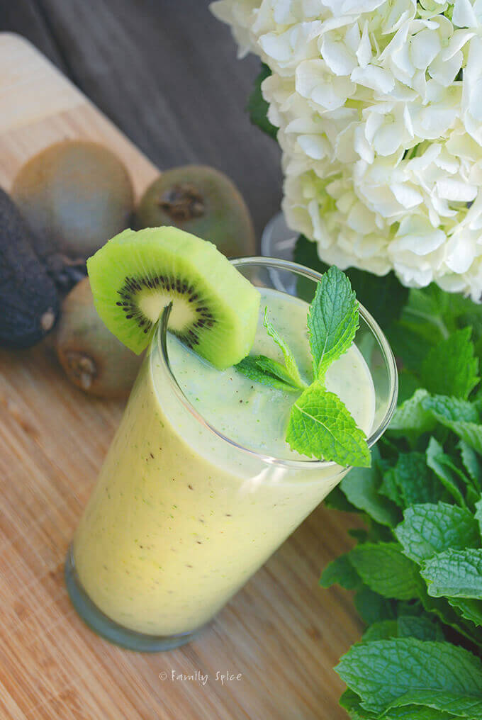 Kiwi Avocado Smoothie by FamilySpice.com