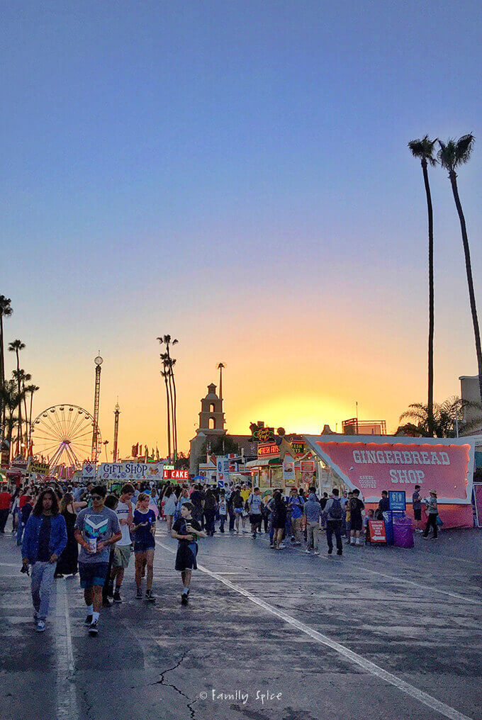 Sunset at the Del Mar Fair by FamilySpice.com