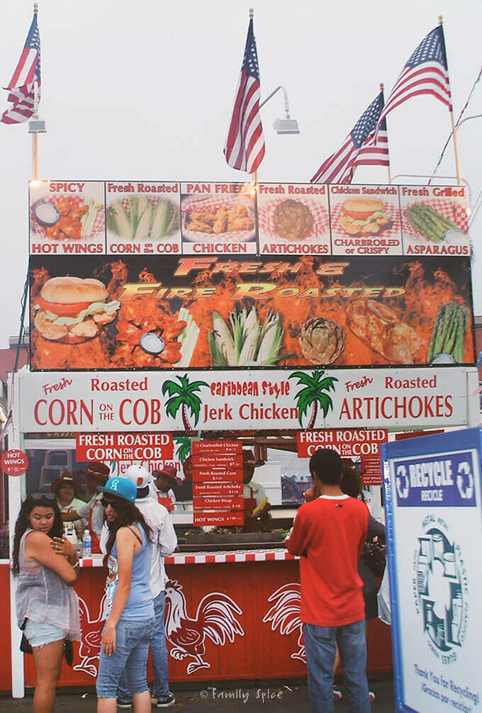 Food Vendors at the Del Mar Fair by FamilySpice.com