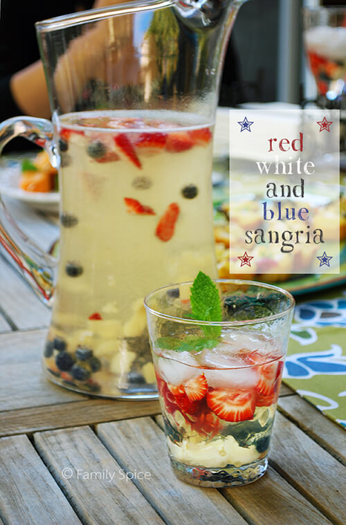 Red, White & Blue Sangria by FamilySpice.com