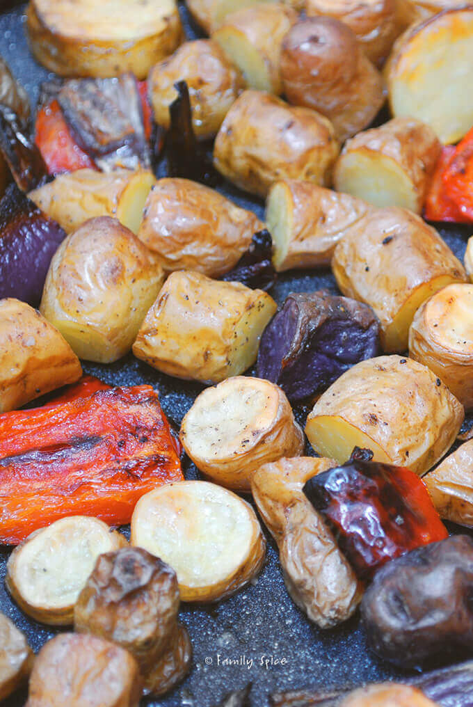 Roasted Fingerling Potatoes by FamilySpice.com