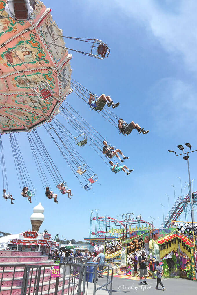 Swings at the Del Mar Fair by FamilySpice.com