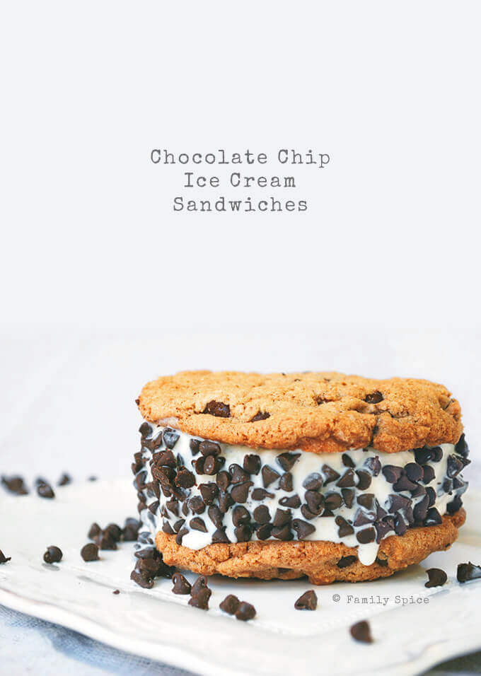 The Best Homemade Chocolate Chip Ice Cream Sandwiches by FamilySpice.com