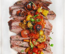 Italian Flank Steak with Roasted Tomatoes by FamilySpice.com