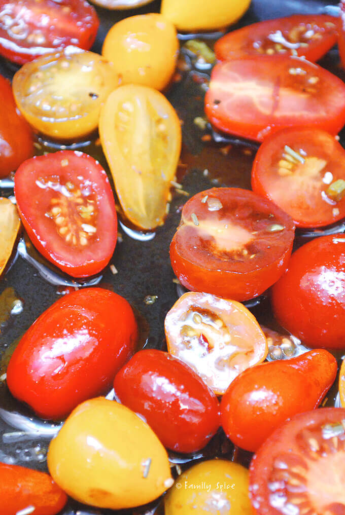 Roasting Cherry Tomatoes by FamilySpice.com