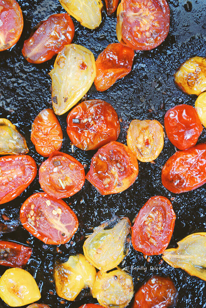 Roasted Cherry Tomatoes by FamilySpice.com