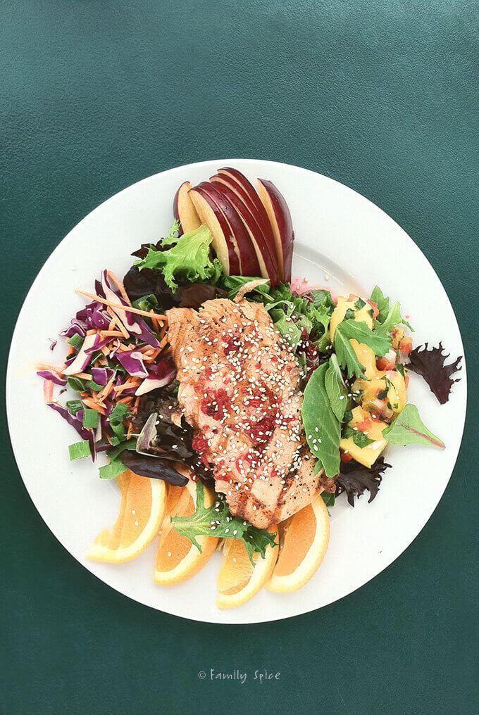 Salmon Salad from Tioga Toomey's Whoa Nellie Deli in Tioga Pass, Yosemite Valley by Family Spice
