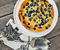 Lemon Blueberry Clafoutis by FamilySpice.com