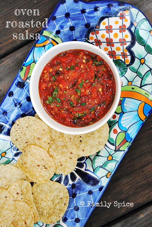 Roasted Tomato Salsa by FamilySpice.com