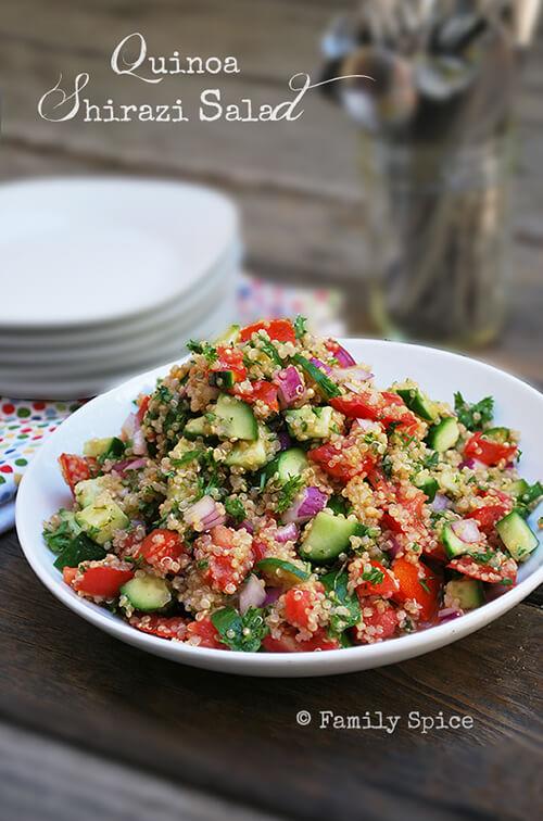 Quinoa Shirazi Salad by FamilySpice.com