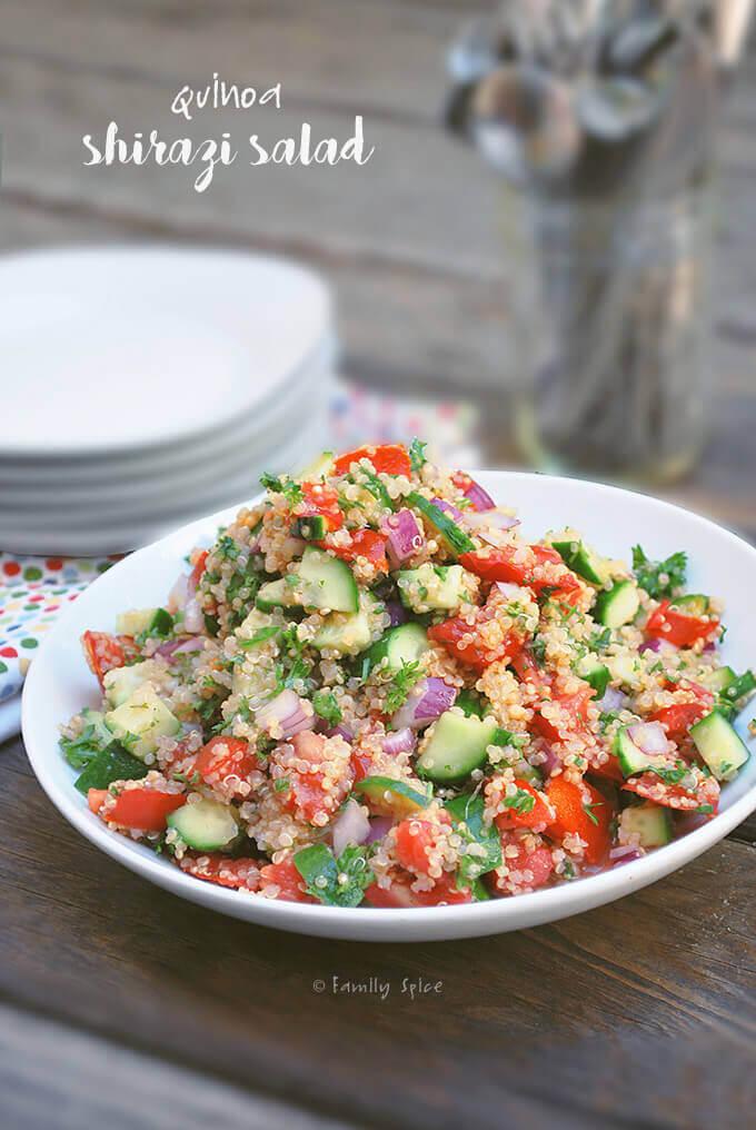 Quinoa Salad Shirazi by FamilySpice.com