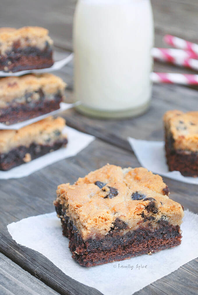 Chocolate Chip Cookie Brownies by FamilySpice.com