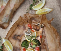 Parchment-Poached Salmon with Thyme (Saumon en Papillote) by FamilySpice.com