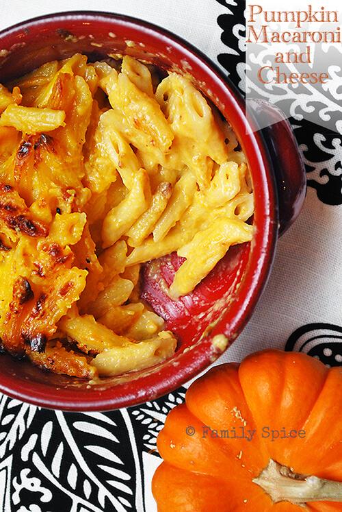 Pumpkin Macaroni and Cheese by FamilySpice.com