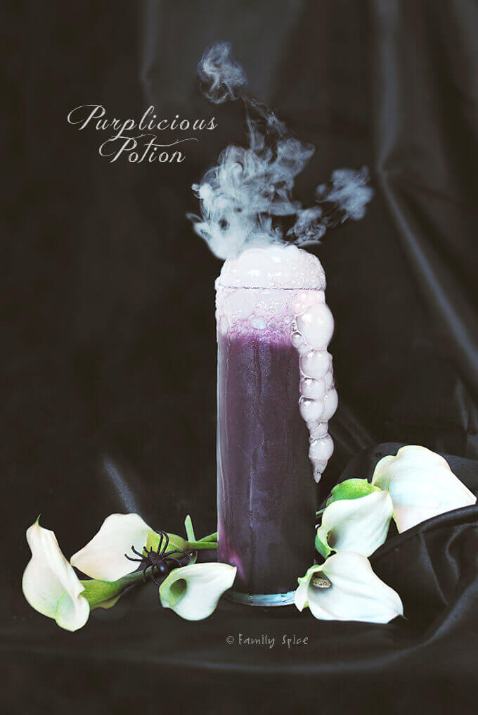 Spooktacular No-Dye All Natural Purplicious Potion by FamilySpice.com