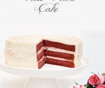 Beet Red Velvet Cake with no artificial colors by FamilySpice.com