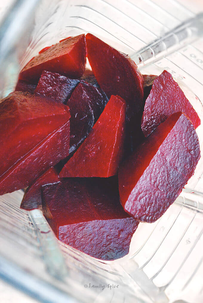 Cooked Beets in the Blender by FamilySpice.com