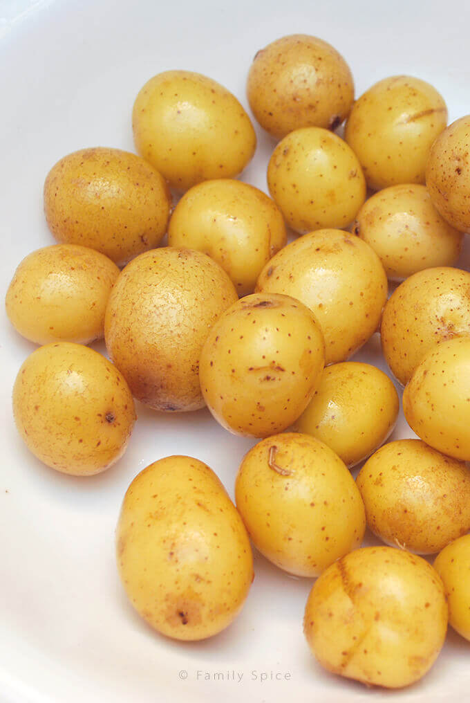 Bowl of potatoes by FamilySpice.com