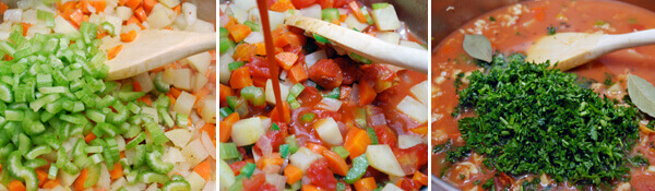 Hearty & Healthy Manhattan Clam Chowder by FamilySpice.com