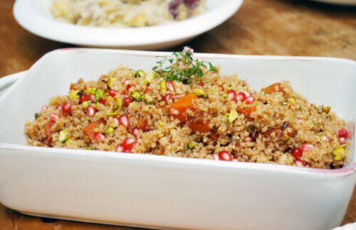 Quinoa Pilaf with Butternut Squash & Pomegranate by FamilySpice.com