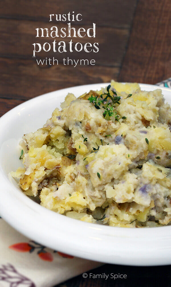 Rustic Mashed Potatoes by FamilySpice.com