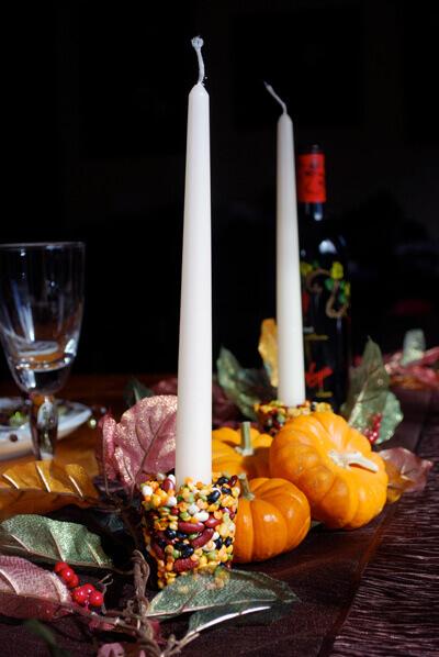 DIY Bean Candle Holder by FamilySpice.com