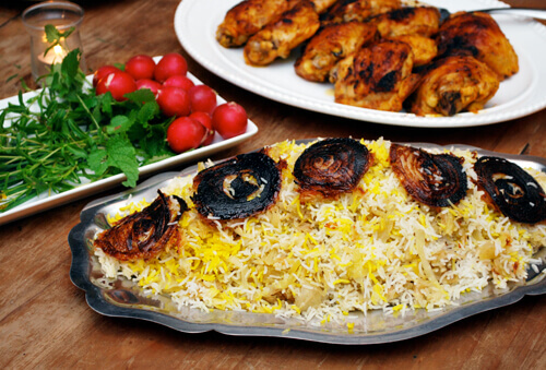 Basmati Rice with Cabbage (Kalam Pollo) by FamilySpice.com