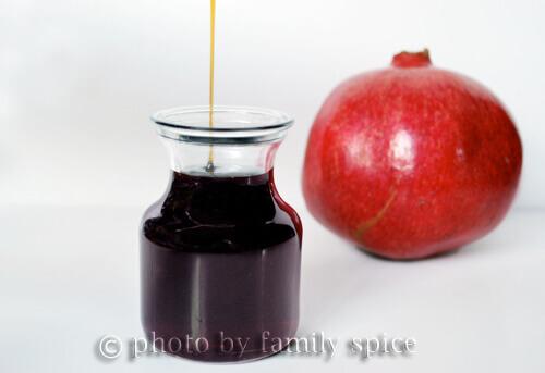 pomegranate syrup by Familyspice.com