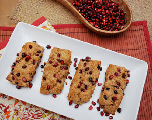Whole Wheat Pomegranate Scones by FamilySpice.com