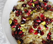 Breakfast Quinoa with Pomegranate by FamilySpice.com