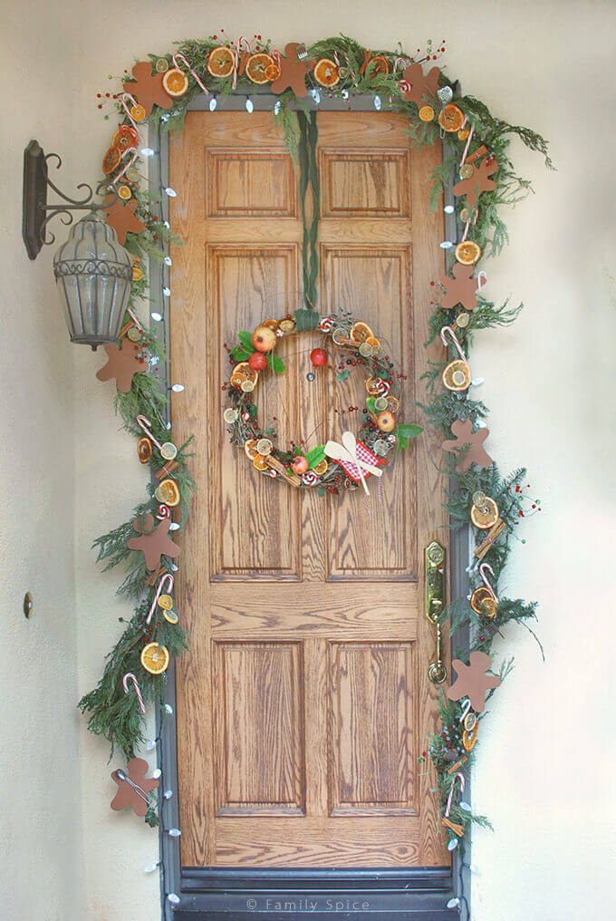 Deck The Doors with a Foodie Theme by FamilySpice.com
