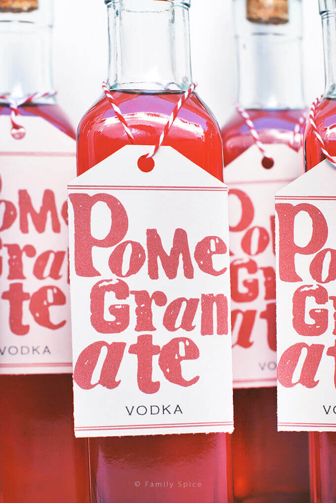 DIY Pomegranate Vodka by FamilySpice.com