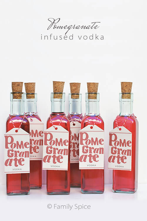 Homemade Holiday Gift Idea: Pomegranate Vodka