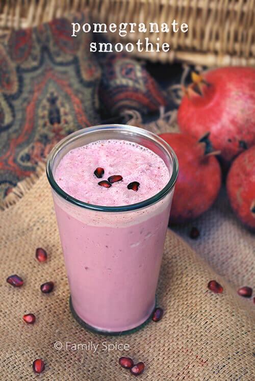 Pomegranate Smoothie by FamilySpice.com