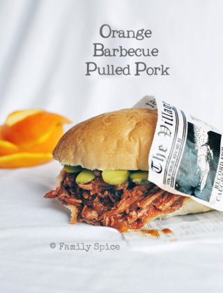 Orange Barbecue Pulled Pork Sandwich