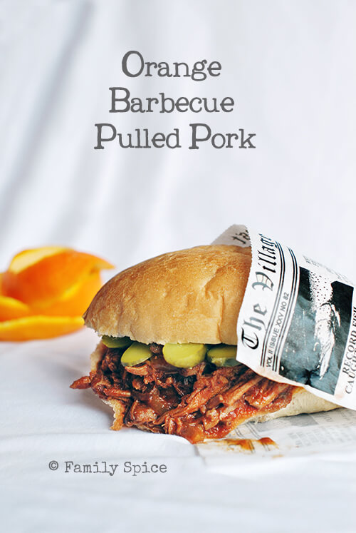 Orange Barbecue Pulled Pork Sandwich by FamilySpice.com
