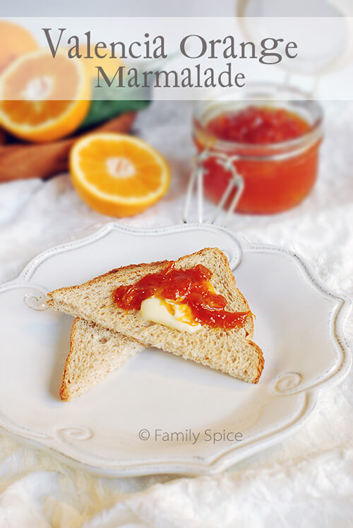Valencia Orange Marmalade by FamilySpice.com