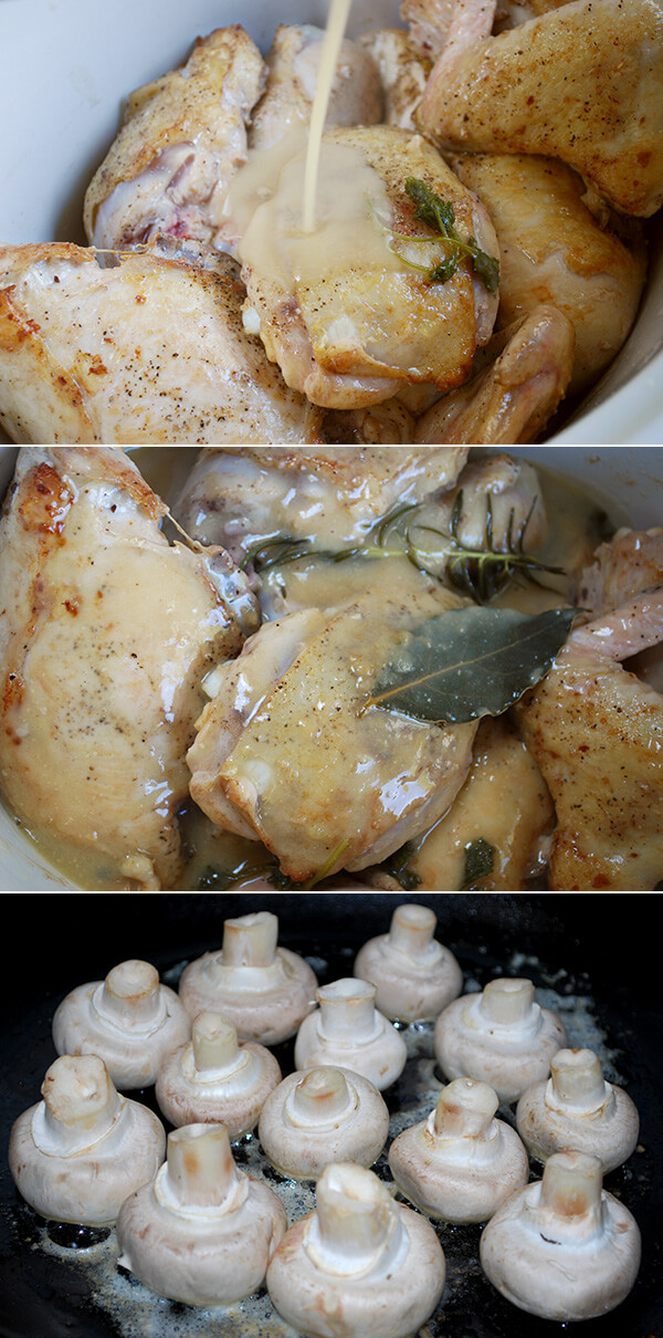 Slow-Cooker Chicken Fricassée by FamilySpice.com