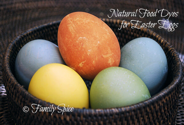 natural food dyes for Easter eggs