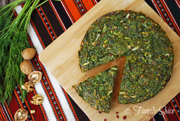 Persian Herb Quiche/Omelette (Kookoo-yeh Sabzi)