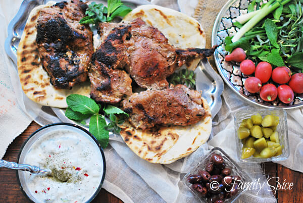 Yogurt Marinated Leg of Lamb