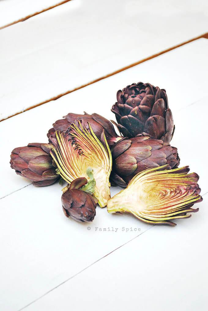 Baby purple artichokes by FamilySpice.com