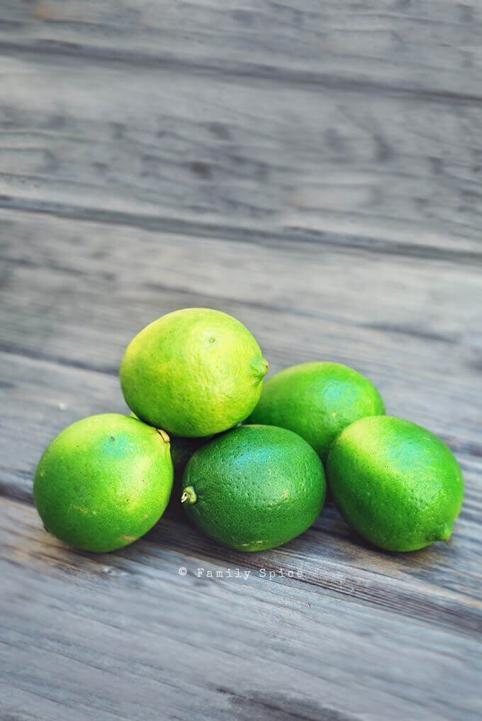 Green limes by FamilySpice.com