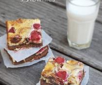 Raspberry Cheesecake Brownies by FamilySpice.com