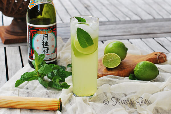 The Sake Mojito by FamilySpice.com