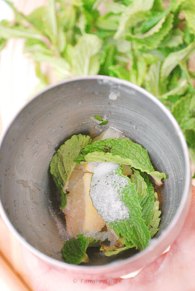 Making of a Sake Mojito by FamilySpice.com