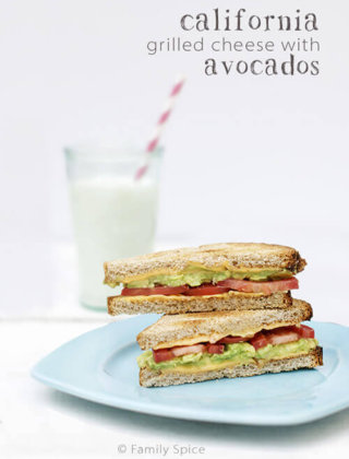 The California Grilled Cheese with Avocado and Tomatoes