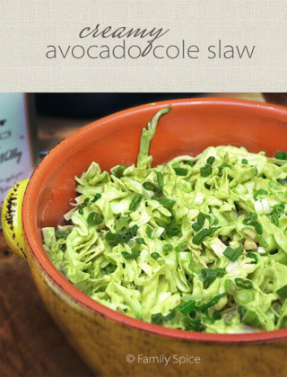 Creamy Avocado Cole Slaw and Strolling Through the Avocado Groves