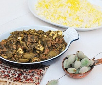 Persian Green Almond Stew (Khorest-eh Chagaleh Badam) by FamilySpice.com